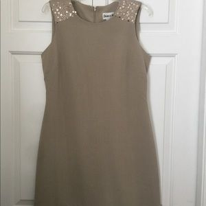 Beautiful New Taupe Sequined Dress!